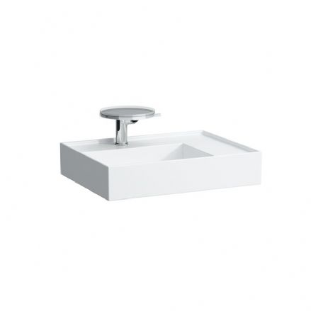 810334 - Laufen Kartell 600 x 460mm Washbasin with Right Shelf - 8.1033.4